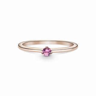 Прстен со розово камче