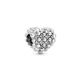 Приврзок Блескаво срце со перли