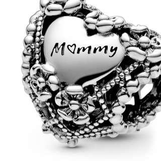 "Приврзок во форма на срце ""Mummy"""