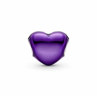 Приврзок Виолетово металик срце