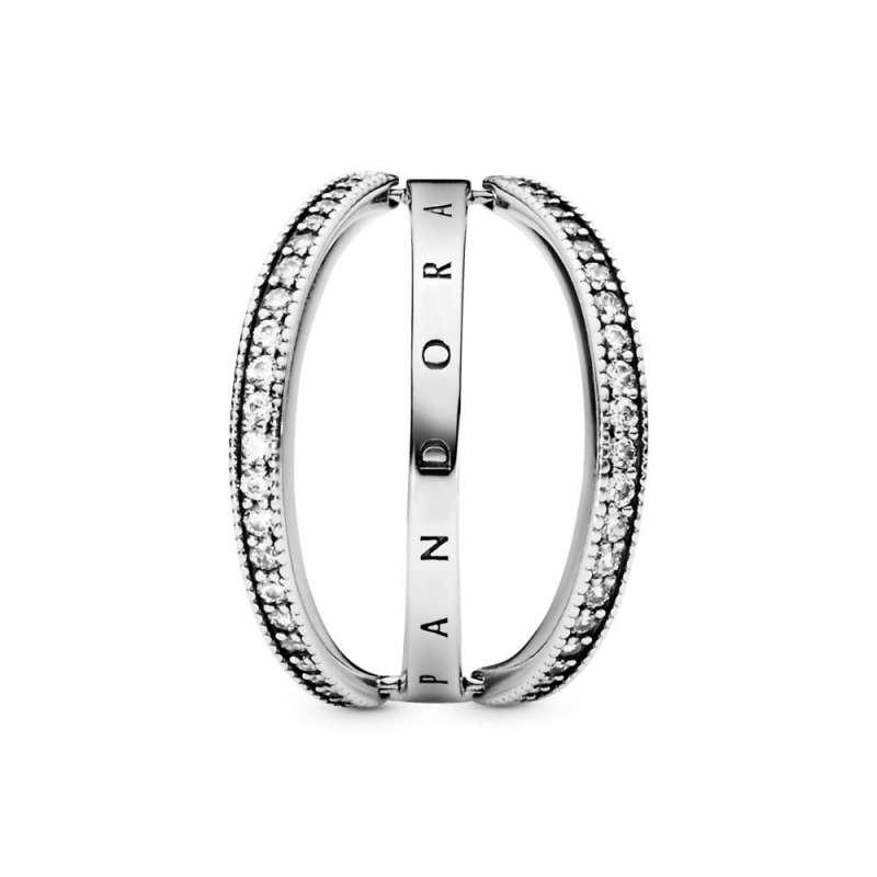 Прстен Pandora Лого & Срца
