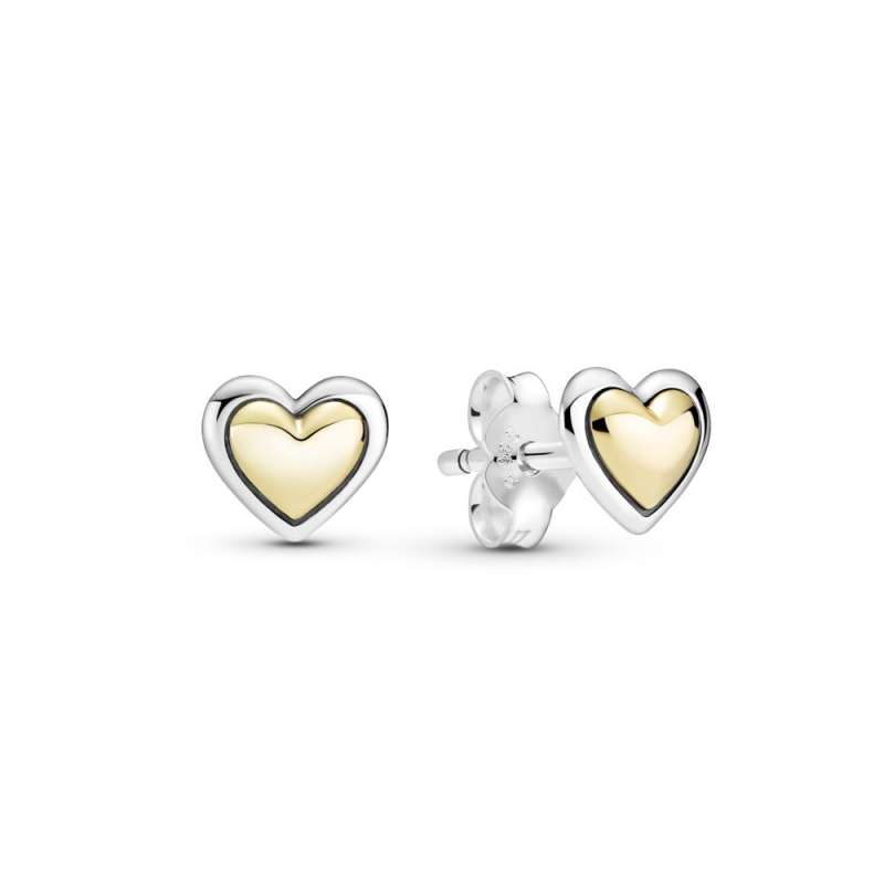 Обетки Заоблено златно срце