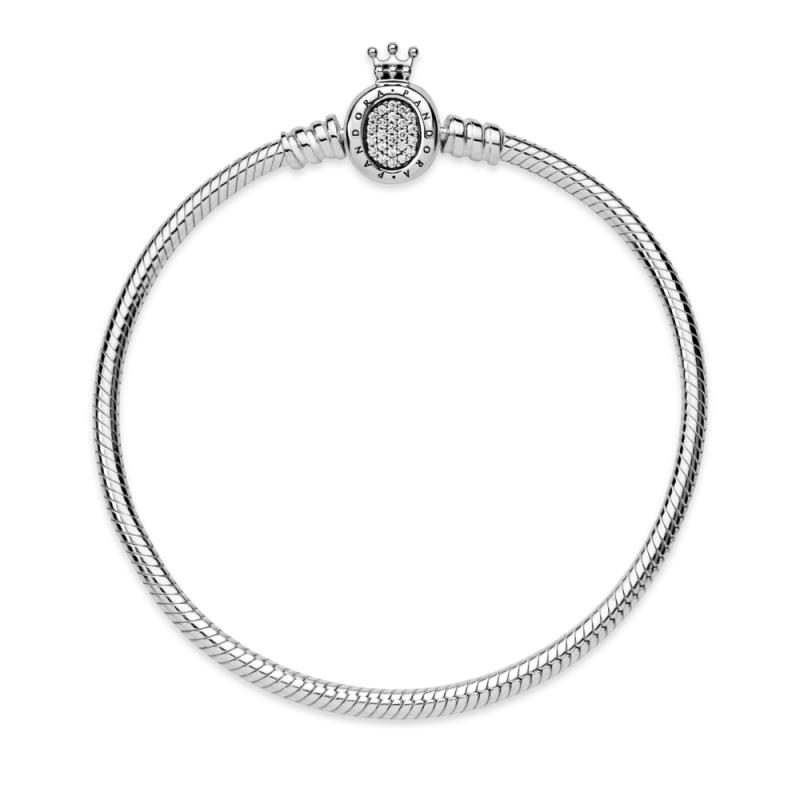 Pandora Moments Белегзија со Затворач во Форма на Круната О