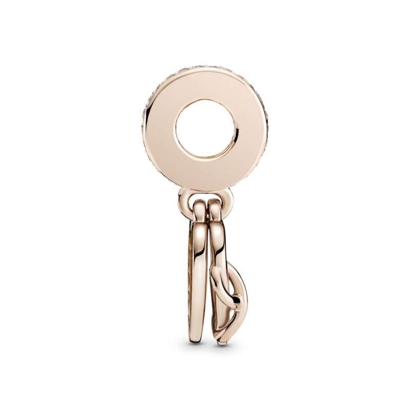 Висечки приврзок Love You срце со симбол за бесконечност