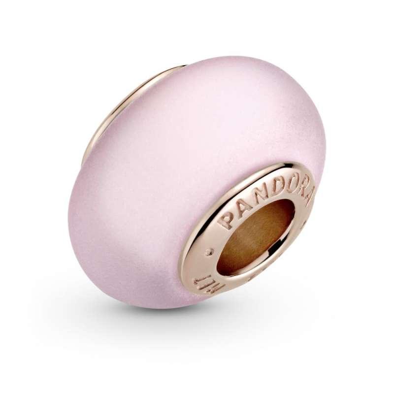 Приврзок Мат розево мурано стакло