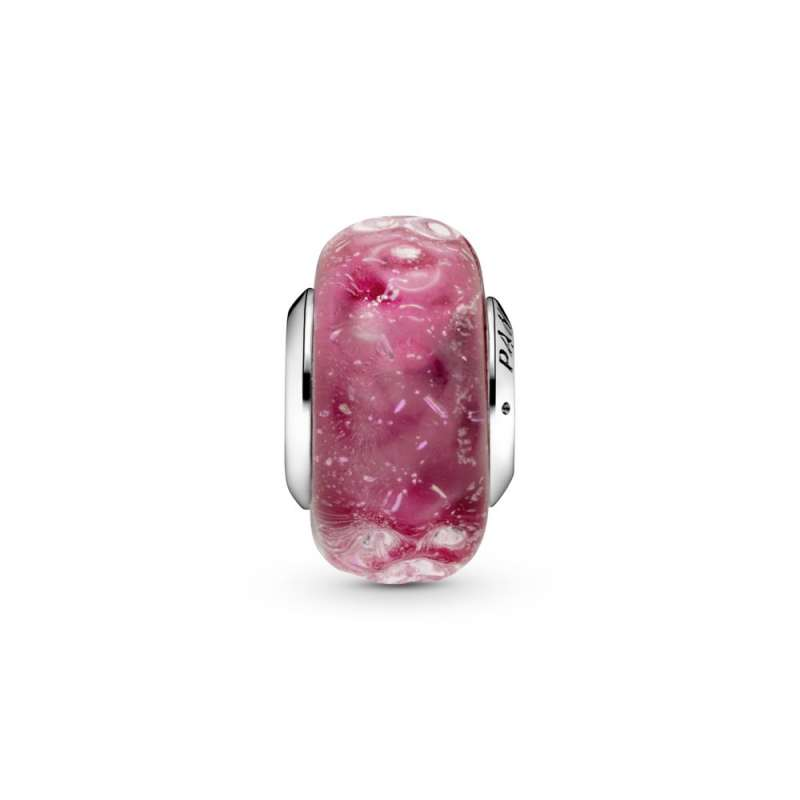 Приврзок Брановидно розево мурано стакло