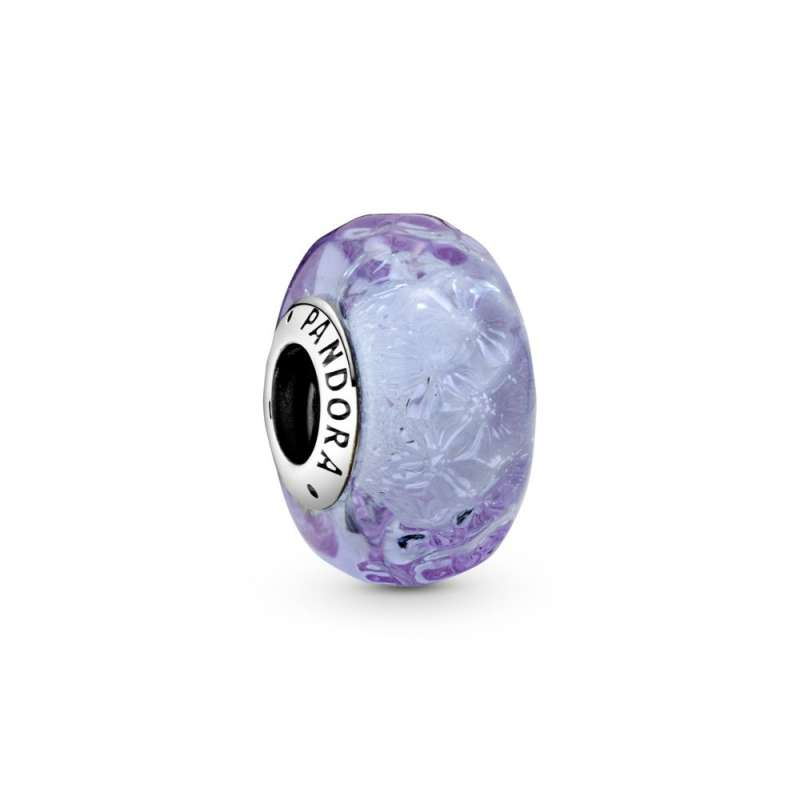 Приврзок Виолетово мурано стакло