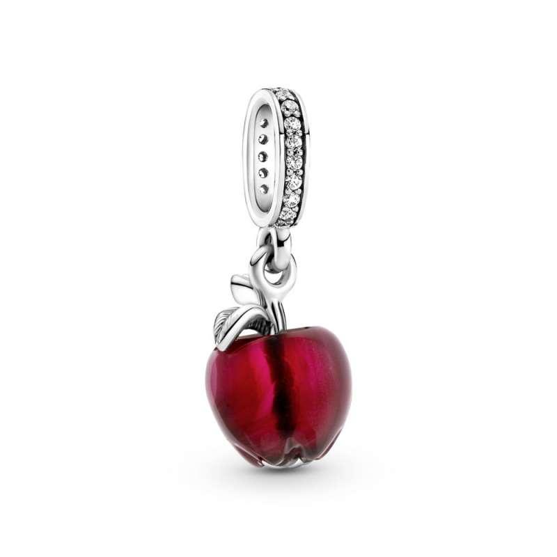 Висечки приврзок Црвено јаболко од мурано стакло
